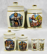 Hummel Canister, Salt And Pepper By Danbury Mint Select Choice