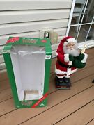 Animated Holiday Creations Motionette 24 Santa Claus Box Tested Works
