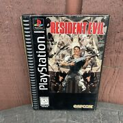 Resident Evil Rare Original Long Box Edition Playstation 1 Ps1 Complete