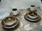 Lot Of 2 Julia Knight Aurora Collection Stoneware 5 Pc Dinnerware Place Set Whit