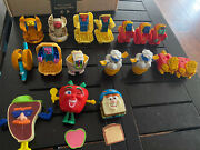 17 Vintage Mcdonalds Food Robot Transformers Happy Meal Toys Free Shipping