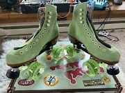 Discontinued Rare - Moxi Lolly Roller Skates Honeydew Size 5