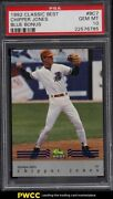 1992 Classic Best Blue Bonus Chipper Jones Rookie Rc Bc7 Psa 10 Gem Mint