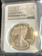 2021 W 1 Silver Eagle Congratulation Set First Day Of Issue Ngc Pf70