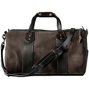 Filson Brown Rugged Suede Leather Duffle Bag