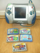 Blue Leapfrog Leapster L-max Console Toy5 Games 100working Numbers On The Run