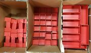 Approx 3100pcs Schaller Red Plastic Boxes Fits Lista Vidmar Stanley Drawers Tool