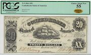 T-9 Pf-9 1861 20 Confederate Paper Money - Pcgs-c Choice About New 55 - Choice