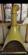 Vintage Mid Century Majestic Cone Gas Fireplace Gold