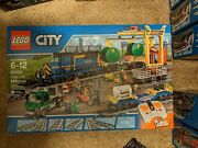 New Lego City Blue Cargo Train 60052 Discontinued And Hard To Find
