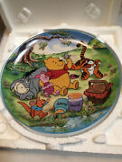 Disney Bradford Exchange Unbothered Times Winnie The Pooh Plate Coa 247a