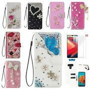 For Galaxy S10/s20/s21/s21+/note 10 20/s20 Fe/a20 Bling Leather Women Phone Case