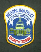 Metropolitan Police District Of Columbia Collector's Patch