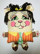Vintage Pillow People Plush Doll, Drowsy Dog Character, Large, 80's Full House