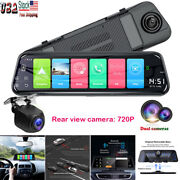 19201080p Hd 10 4g Wifi Android 8.1 Dual Lens Car Gps Rearview Mirror Dash Cam