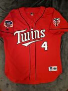 Paul Molitor Russell Athletic Minnesota Twins Authentic Red Dairy Qn Jersey 52