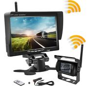 New 7wireless Vehicle Rear View Monitor Back Up Camera Truck Rv Trailer Camper