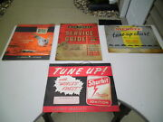 Vintage 1940s Car Automotive Service Station Repair Parts Manuals Tune-up Charts