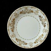 Vintage Harmony House China Dinner Plates Classique Gold 3672 Lot Of 4 Preowned