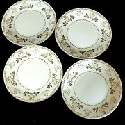 Vintage Harmony House China Lunch Plates Classique Gold 3672 Lot Of 4 Preowned