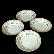 Vintage Harmony House China Dessert Bowls Classique Gold 3672 Lot Of 4 Preowned