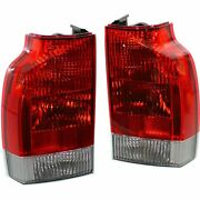 Driver And Passenger Side Set Of 2 Tail Light Assembly Fits Volvo V70 Xc70