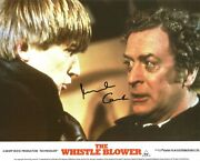 Hand Signed 8x10 Photo Lobby Card Michael Caine The Whistle Blower Alfie +my Coa