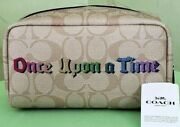 Coach Disney Cosmetic Case Signature W/once Upon A Timenwt C1479