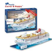 3d Puzzle Paper Building Model Toy Cruise Ship Sea Ocean Boat Assemble Game Gift