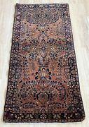 Handmade Antique Oriental Rug 2.5and039 X 4.10and039 76cm X 151cm 1920s - 1n16