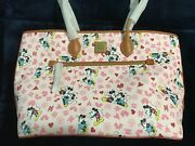 Bnwt Disney Dooney And Bourke Bag Mickey And Minnie Valentine Love Tote And Wallet