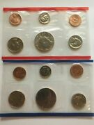 1987 Us 10 Coin Brilliant Uncirculated Mint Set In Original Government Package