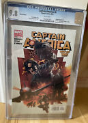 Captain America 6 Cgc 9.8 Variant Edition 1st App Winter Soldier 2005 White Pgs