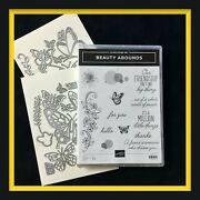 Stampin' Up Beauty Abounds Stamp Set And Butterfly Beauty Dies .... Wow New