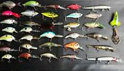 Lot Of 34 Bass Fishing Cranks Rattles Comes With Box Great Deal