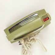 Vintage Atomic Ge Dim47 Deluxe Hand Mixer Green Beaters Not Included