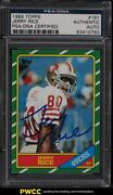 1986 Topps Football Jerry Rice Rookie Rc Auto 61 Psa/dna Auth