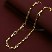 Pure 916 22k Gold Chain Unique Design Necklace Daily Wear Gifting Jewelry 110