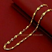 Customized 22k Gold Chain Unique Design Necklace Daily Wear Gifting Jewelry 109