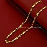 Customized 22k Gold Chain Unique Design Necklace Gifting Brides Jewelry 108