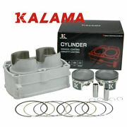 82mm Cylinder And Forged Piston Ring Kit W/gasket For Polaris Rzr 800