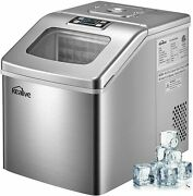 Portable Ice Maker Machine 40lbs/24h Portable Compact Large Storage Us