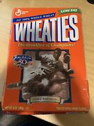Jackie Robinson Brooklyn Dodgers 50th Anniversary Wheaties Cereal Box Good Cond