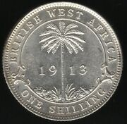 1913 British West Africa George V Silver Shilling   World Coins   Pennies2pounds