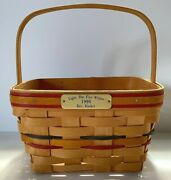 Longaberger 1996 Light The Fire Within Bee Basket/large Berry -red, Blue, Yellow