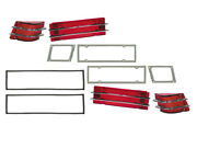 1965 Comet Lens-gasket Kit Taillight Lh Rh Caliente Cyclone Rear Lamps Ford New