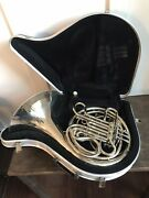 Conn 8d Double French Horn Nickel Silver W/ Case Bach 7 Mouthpiece