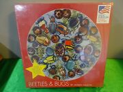 New 500 Piece Round Jigsaw Puzzle - Beetles And Bugs By Janeen Mason N3