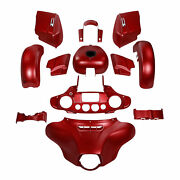 Abs Fairings Bodywork Fit For Harley Street Glide Special 14-21 Wicked Red Denim