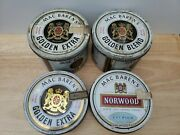 4x Mac Baren's Golden Extra Ready Rubbed Tobacco Empty Tins